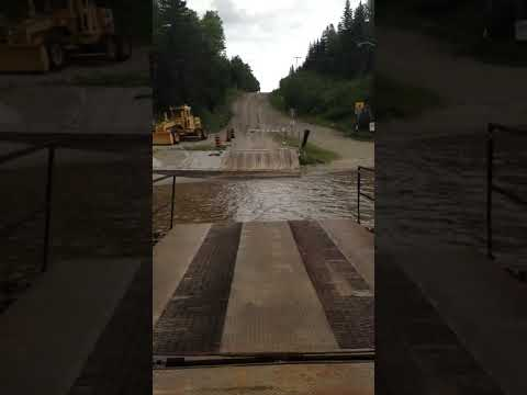 Cable Ferry - Cochrane Ontario, July 27 2014