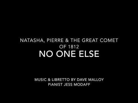 No One Else from Natasha, Pierre & the Great Comet of 1812 - Piano Accompaniment