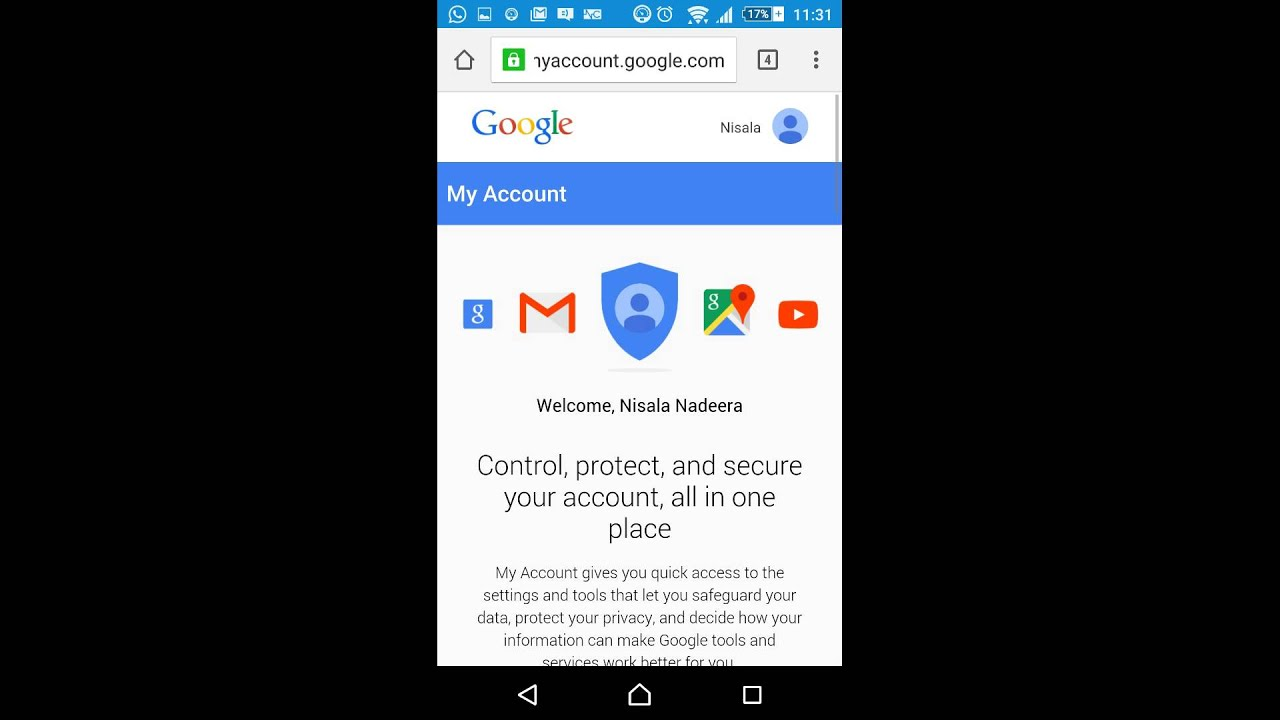 How to change password on gmail mobile