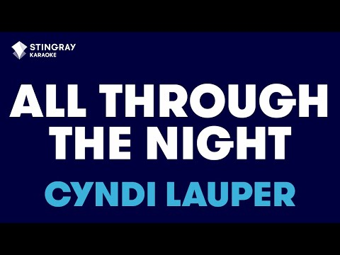 All Through The Night in the style of Cyndi Lauper