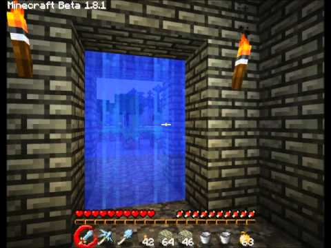 How to make a Water Door in Minecraft & How to make a Water Door in Minecraft - YouTube