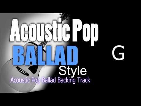 Acoustic Ballad Pop #2 Guitar Backing Track G 65 bpm Highest Quality