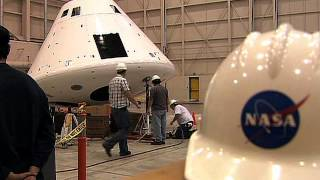 Engineers Conduct Weight-and-Balance Tests on the Orion PA-1 Crew Module