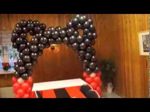 decoracion de mickey en globos - YouTube