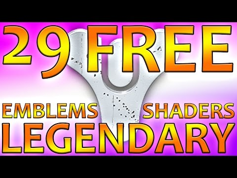 Destiny FREE Legendary Shaders And Emblems | Codes