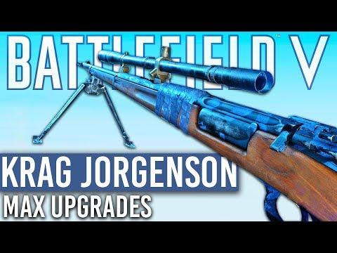 FULLY UPGRADED KRAG Battlefield 5 NEW SNIPER