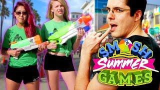 sexy wet t shirt contest smosh summer games