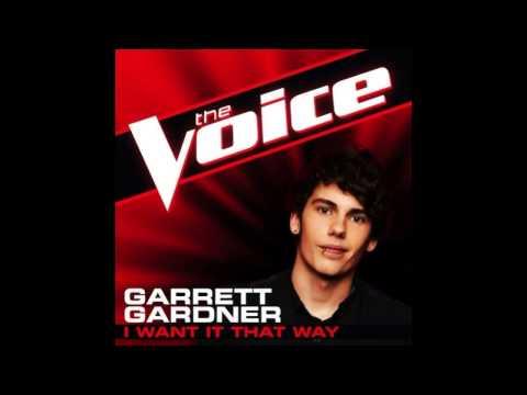 """Garrett Gardner: """"I Want It That Way"""" - The Voice (Studio Version)"""