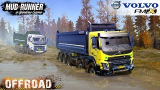 Spintires: MudRunner - VOLVO FMX 2014 Towing a Broken Dump Truck