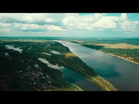 Горбатов р. Ока с высоты птичьего полёта /4K Video/