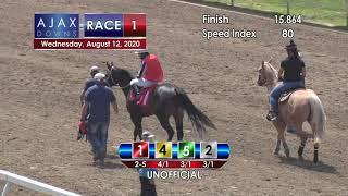 Ajax Downs August 12, 2020 Race 1