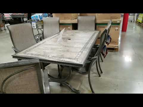 costco!-agio-7-piece-sling-dining-set-w/-tile-table-top!-$969!!!