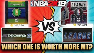 NBA 2K19 MYTEAM 2 DIAMOND PULLS AND THE BEST BOX THAT GIVES THE MOST MT