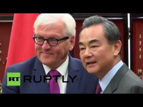 China: Steinmeier and Wang Yi hail closer bilateral ties