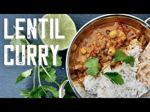 Creamy Coconut Lentil Curry | Red Lentil Curry | Chickpea Curry Stew