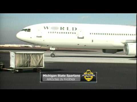 Michigan State Team Arrival