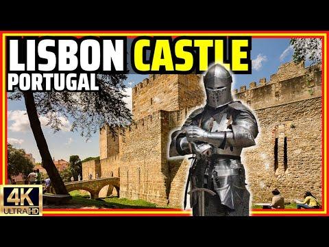 [4K] Lisbon's São Jorge Castle, Detailed Walking Tour With Historical Context   Portugal