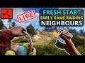 RUST SOLO - Early Game RAIDING All Of My Neighbours!  - LIVE