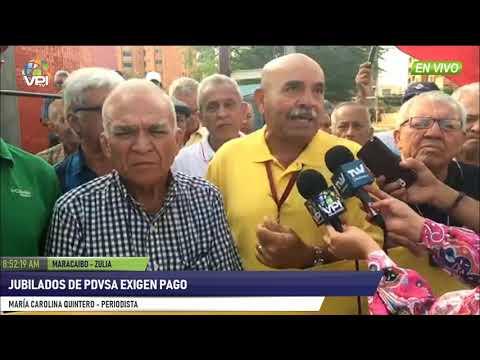 Venezuela - Jubilados de PDVSA Zulia exigen pago y aumento de salario - VPItv