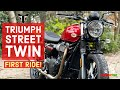 Triumph Street Twin Review!   Triumph Street Twin Sound + First Ride
