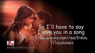 Baixar เพลงสากลแปลไทย I'll Have To Say I Love You In A Song - Jim Croce (Lyrics/Thai subtitle)