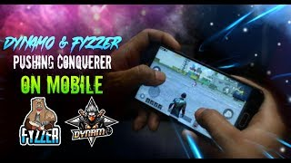 🔴DYNAMO GAMING LIVE ON MOBILE WITH HYDRA FYZZER PUBG MOBILE #hailhydra💣🔫.0