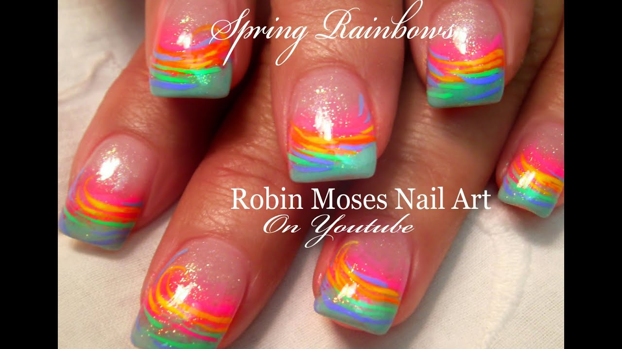 SPRING Nail Art For Beginners | Easy Rainbow Nail Art Design Tutorial -  YouTube - SPRING Nail Art For Beginners Easy Rainbow Nail Art Design
