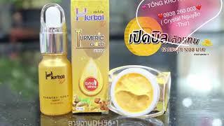 Combo Serum và kem nghệ Herbal trị mụn, trị thâm, dưỡng trắng và tái tạo da