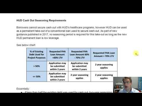 HUD 232 Healthcare Cash-Out Options