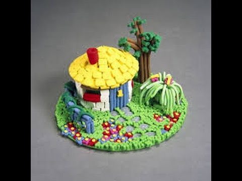 How to make a model of hut best out of waste youtube for Model on best out of waste