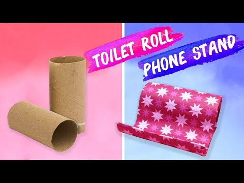 Paper Toilet Roll Phone Stand - Easy 5 minutes DIY Crafts.