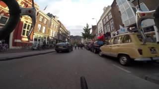 Rush hour by bike in Utrecht, the Netherlands