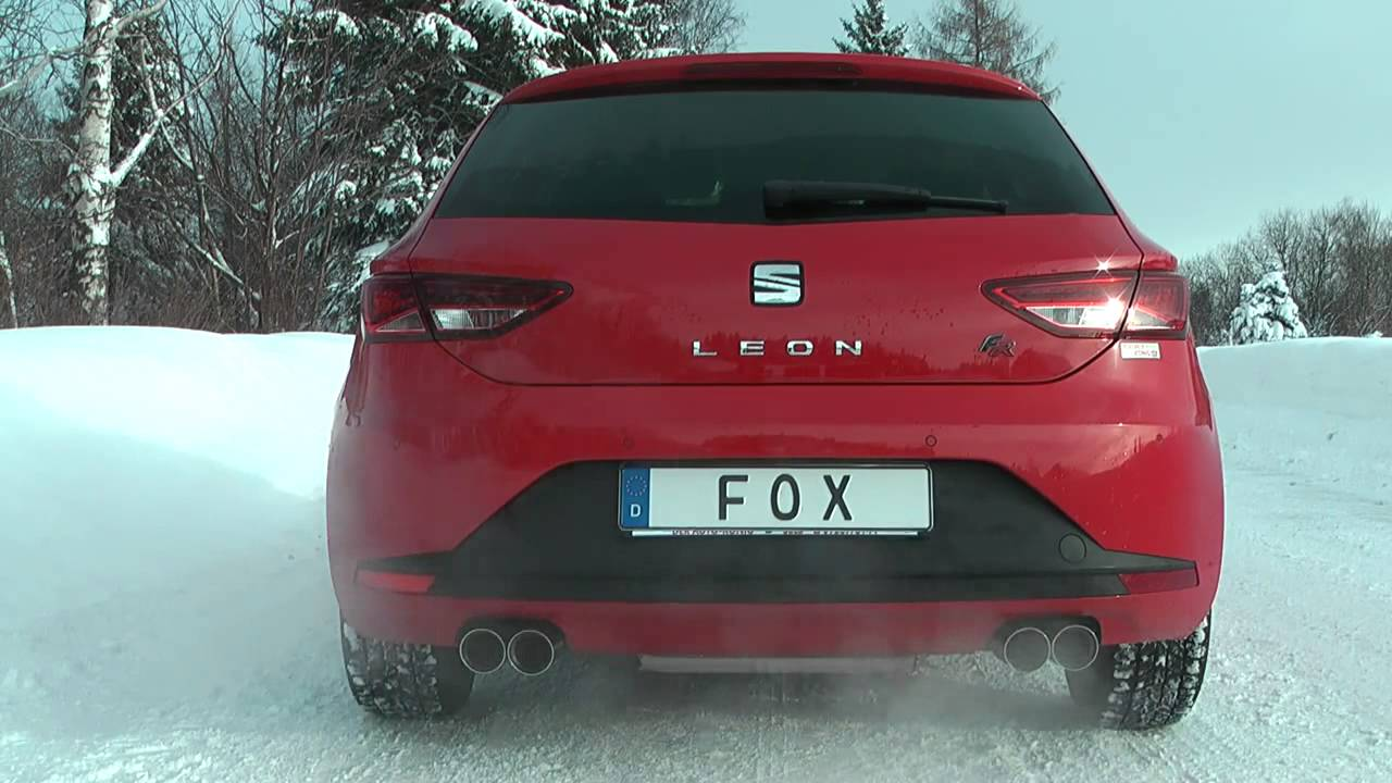 fox sportauspuff seat leon 5f tdi ab se042035 130 youtube