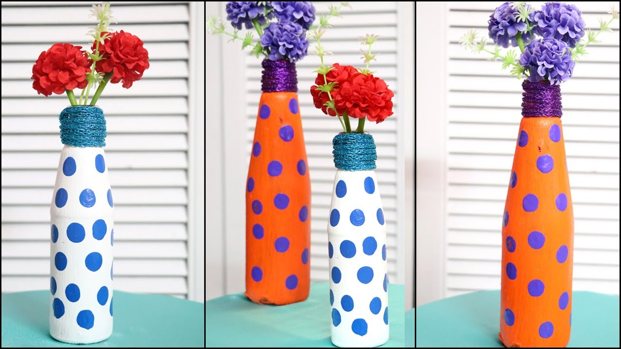 Flower Vase From Waste Bottle