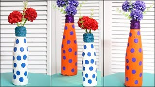 Flower Vase from Waste Bottle | Recycled Material Craft | Little Crafties