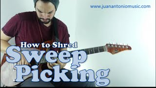 Sweep Picking in the style of Jason Becker and Yngwie Malmsteen in just 4 minutes