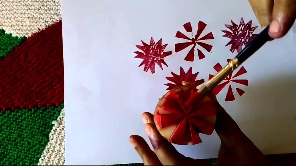 Potato fabric design by premlata youtube for Asha mural painting guruvayur