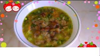 Гороховый суп.Очень вкусный