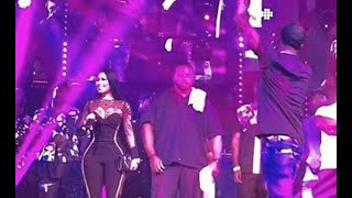 Nicki Minaj & Meek Mill Share A Romantic Moment On Stage