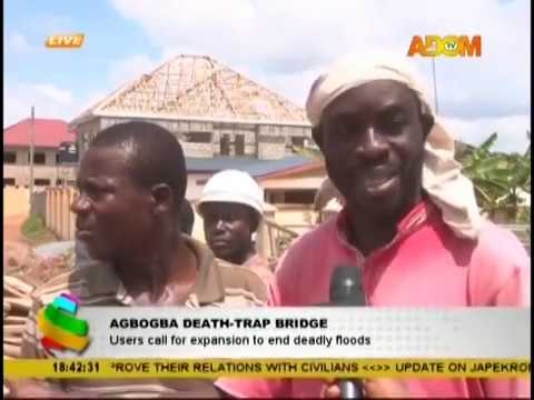 Agbogba Death-Trap Bridge: Users call for expansion to end deadly floods (18-10-18)