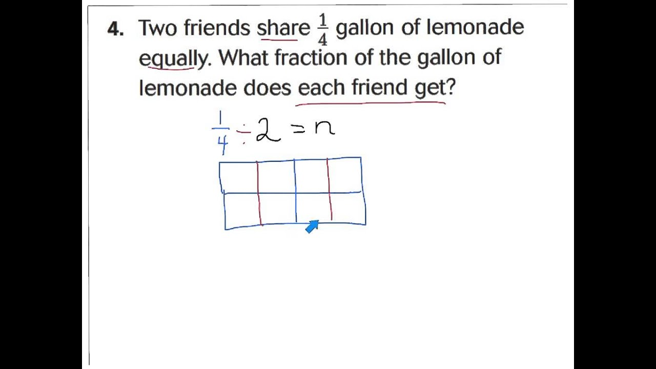 worksheet Division Of Fractions 8 5 interpret division with fractions youtube fractions