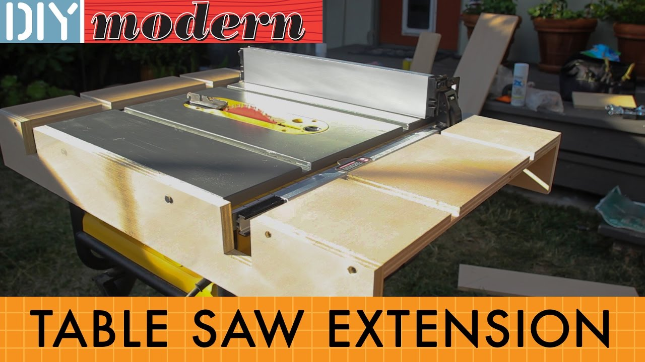 How To Make A Portable Table Saw Extension For The Dewalt 7480 Youtube