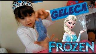 Como fazer Geleca / Amoeba da Elsa Frozen - how do make slime frozen - clubinho da laura