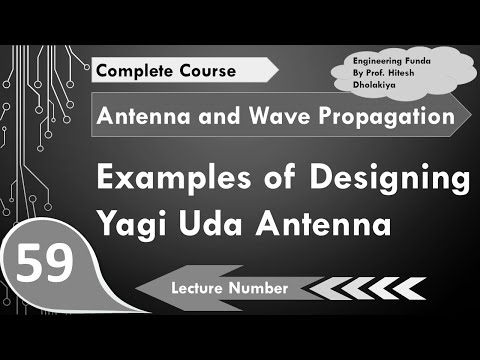 Examples and Designing of Yagi Uda Antenna in Antenna and Wave Propagation  by Engineering Funda