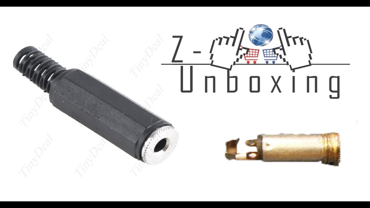 Unboxing 3.5mm Female Connector For Audio Cable