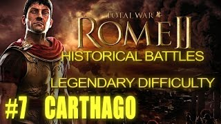 SIEGE OF CARTHAGE 1/2 - Legendary Difficulty - Historical Battle for Rome 2