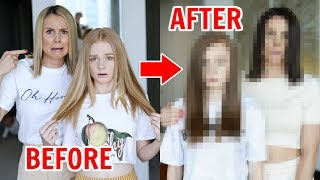 MOM & TEEN EXTREME MAKEOVER: BLONDES to BRUNETTES!