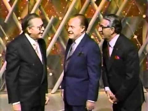 Bob Hope, with Milton Berle & Danny Thomas, 1990