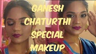 GANESH CHATURTH  MAHARASHTR AN MAKEUP special tutorial
