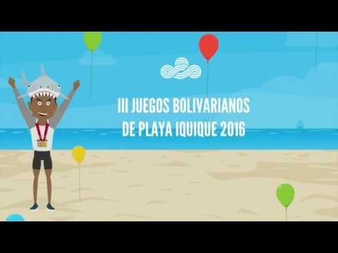 Microprograma Animado, III Juegos Bolivarianos de Playa Iquique - Chile 2016